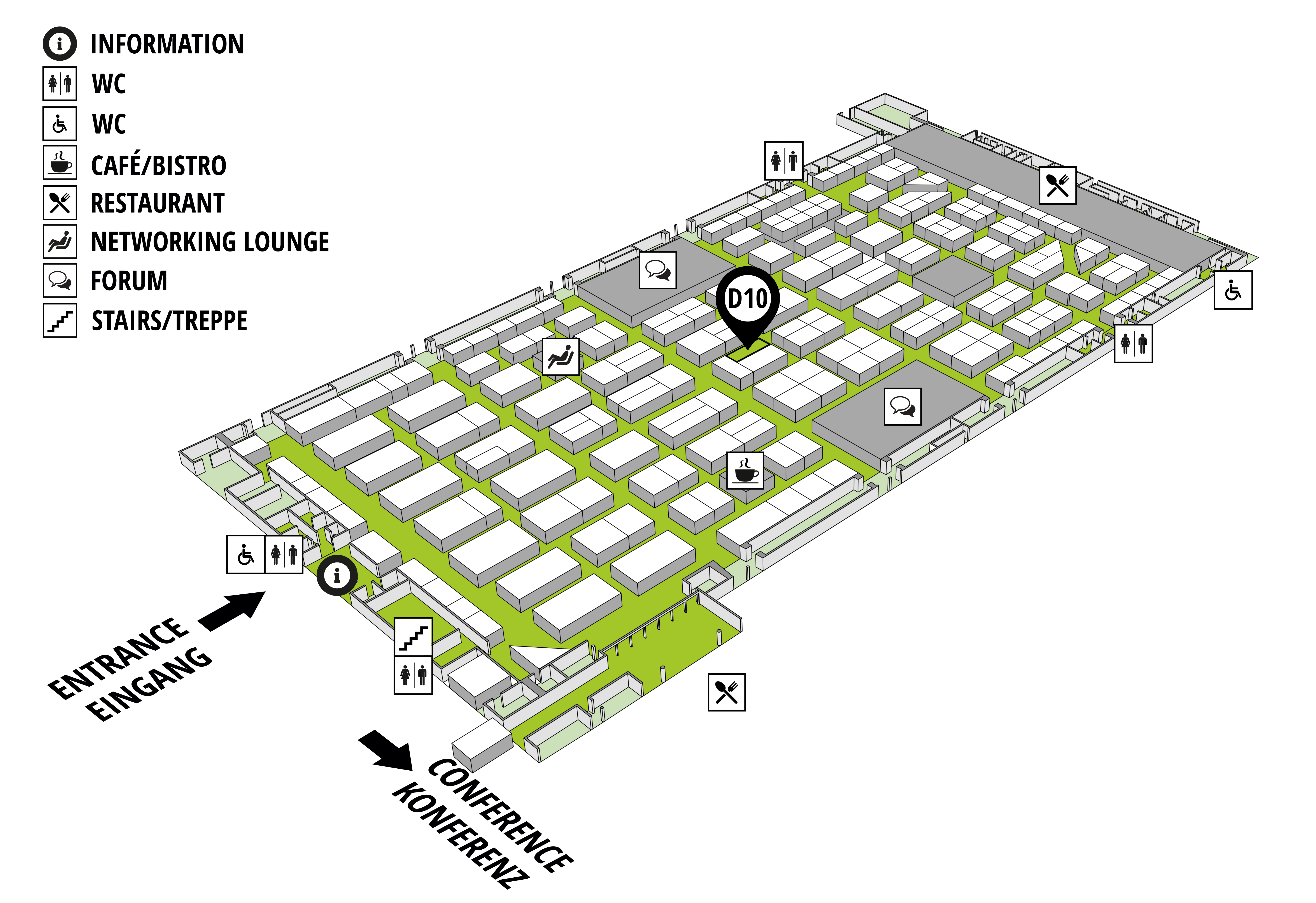 IT-TRANS 2018 - International Conference and Exhibition on Intelligent Urban Transport Systems hall map (dm-arena): stand D10